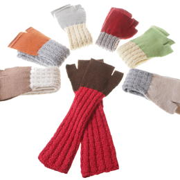 colorful baby-alpaka arm warmers