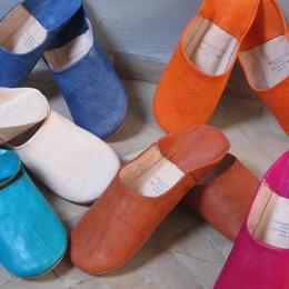 Damen-Babouche – orientalische Leder-Hausschuh aus Marakesch - faire Handarbeit